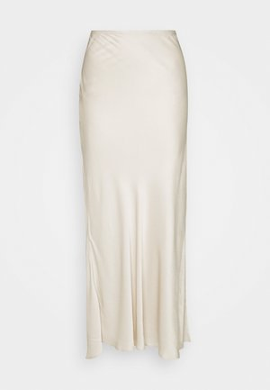 SIDE SPLIT MIDIAXI - Pencil skirt - cream