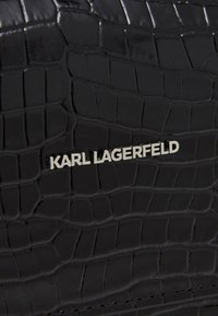 KARL LAGERFELD - IKON CROC SHOULDERBAG - Kabelka - black - 5