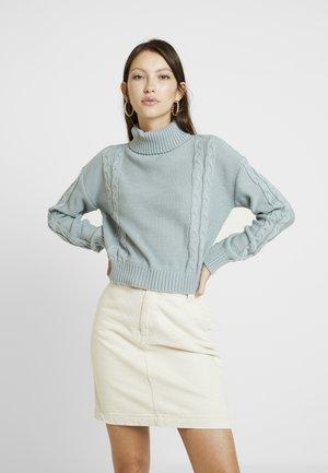 Sweter - dusty blue