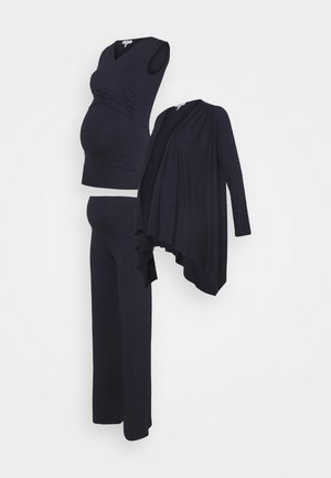 BOXHOMEWEAR SET - Cardigan - navy blue