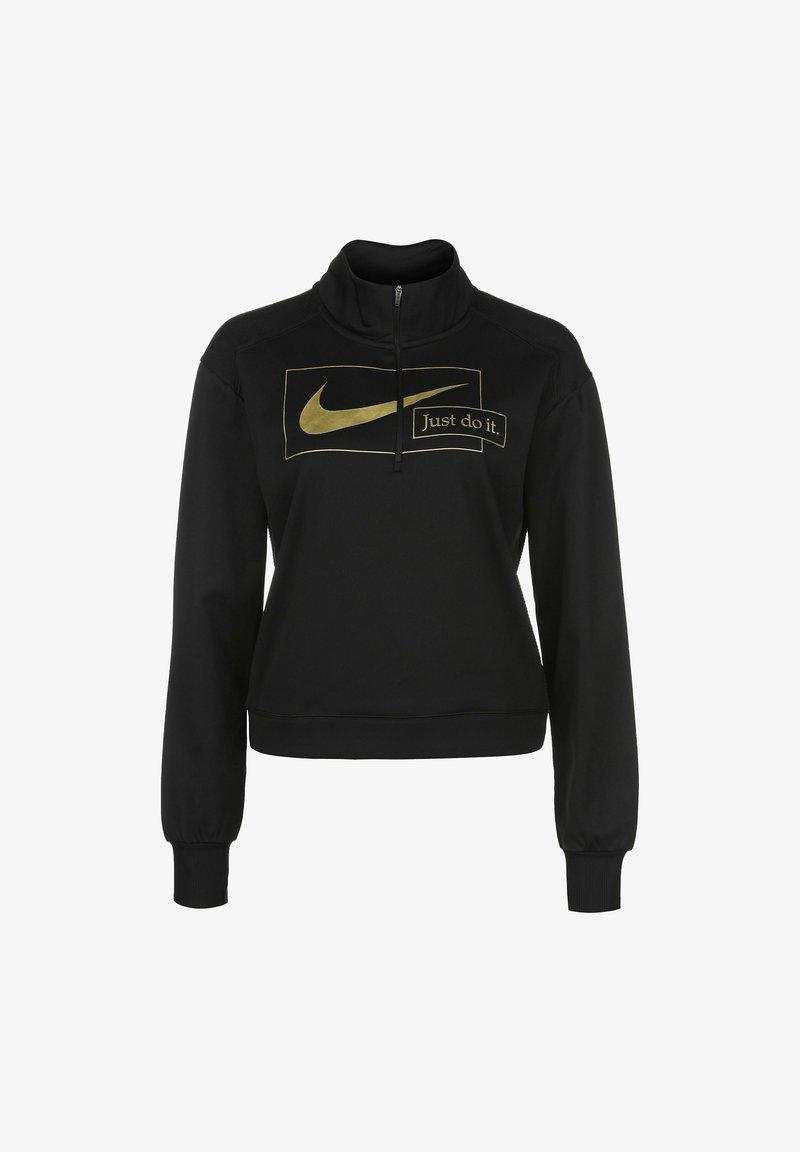 Nike Performance - Sweatshirt - black / metallic gold