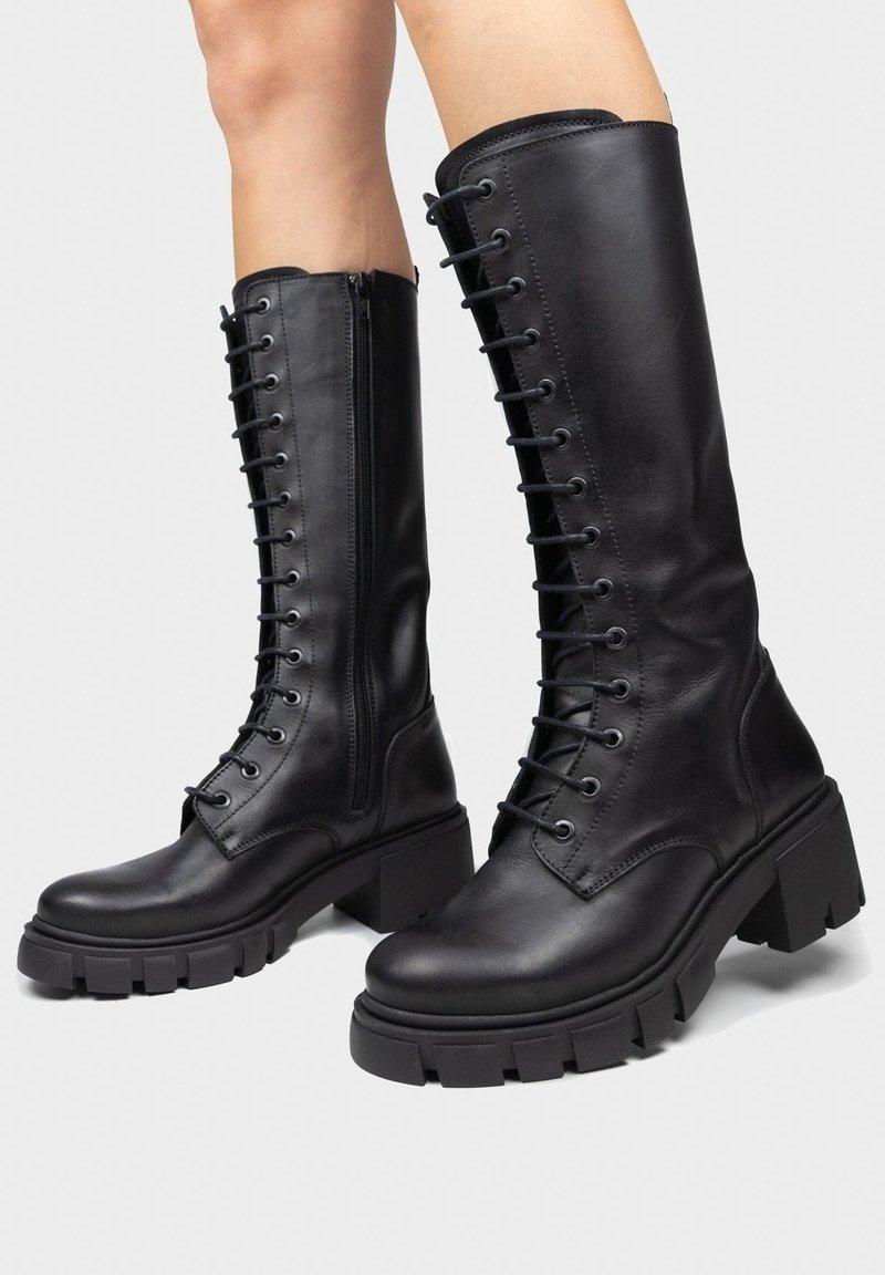Maria Barcelo - Lace-up boots - noir