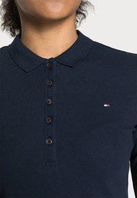 Tommy Hilfiger - HERITAGE LONG SLEEVE SLIM  - Polo shirt - midnight - 4