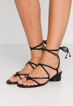 LACE UP STRAPPY ALYSSA - Sandales - black