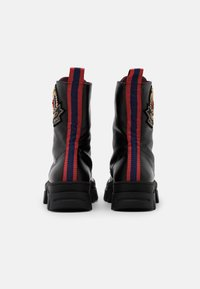 Mulberry - NEW LIONE - Lace-up ankle boots - nero/grain rosbery/blu - 3