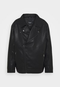 Jack & Jones - JORNOLAN BIKER JACKET - Faux leather jacket - black - 0