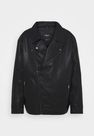 JORNOLAN BIKER JACKET - Faux leather jacket - black