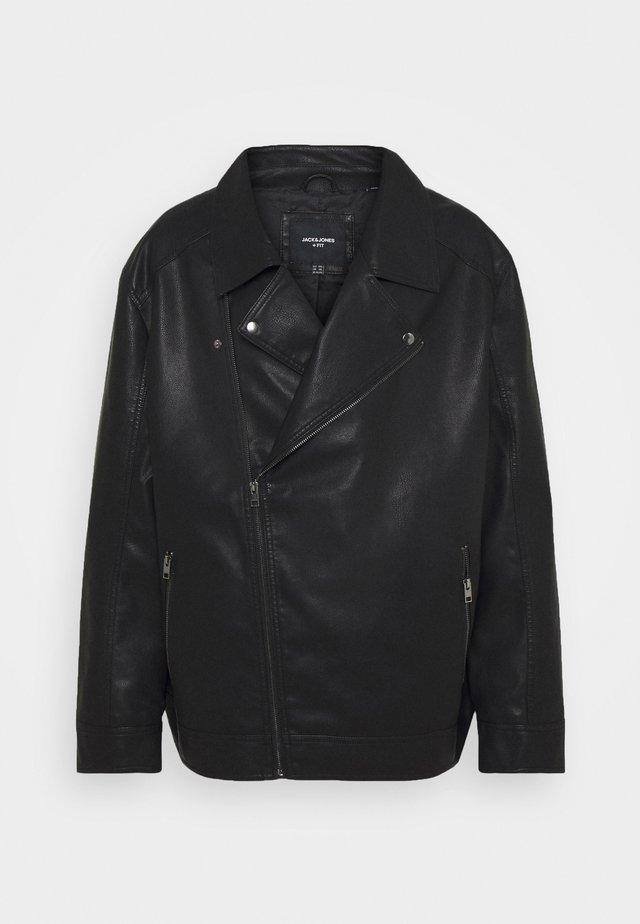 JORNOLAN BIKER JACKET - Faux leather jacket - black