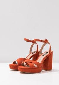 ONLY SHOES - Sandály na vysokém podpatku - orange - 4