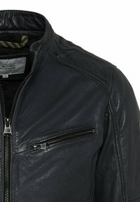 camel active - Leather jacket - navy - 7