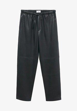TAILLE ÉLASTIQUE - Trousers - noir