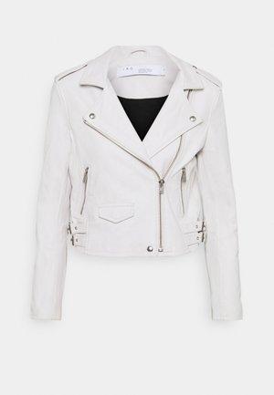 ASHVILLE JACKET - Leather jacket - white