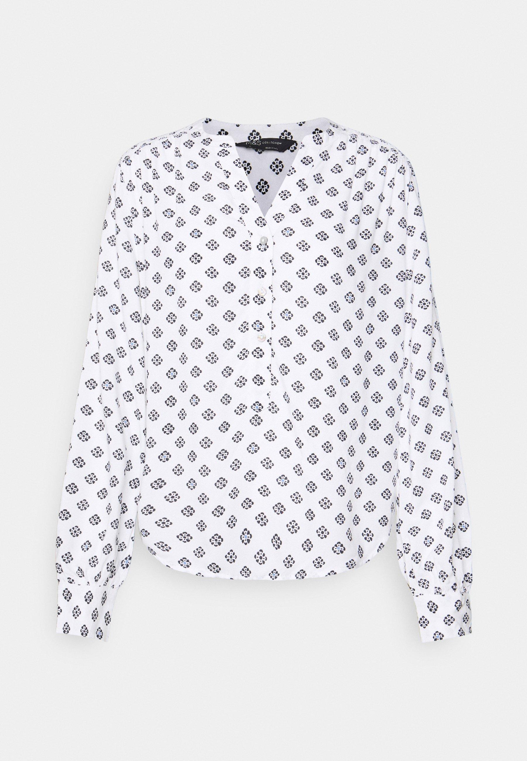 Donna NOTCH NECK BLOUSE - Maglietta a manica lunga