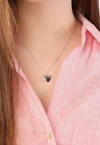 Lucardi - MEDAILLON HART  - Necklace - silver-coloured - 1
