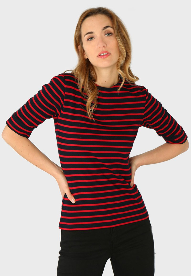 Armor lux - CANCALE MARINIÈRE - Long sleeved top - rich navy braise