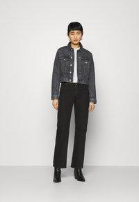 Calvin Klein Jeans - CROPPED JACKET - Denim jacket - denim grey - 1