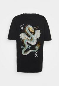 Denim Project - DRAGON BOX TEE - T-shirt z nadrukiem - black - 1