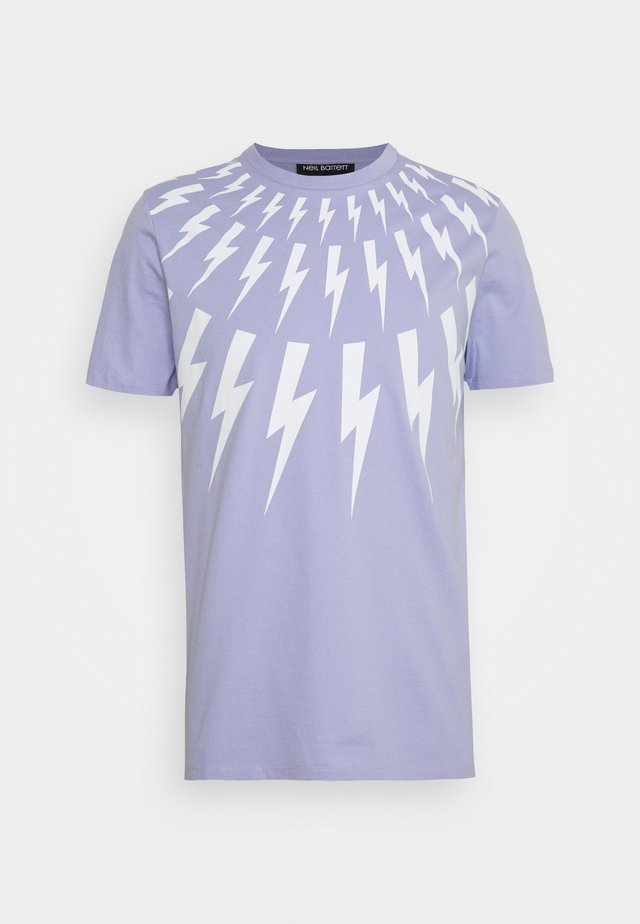 THUNDERBOLT - T-shirt imprimé - lilac/white