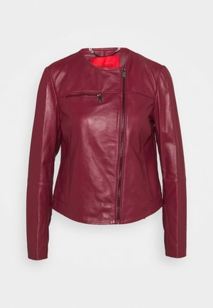 NOTO - Leather jacket - burgundy