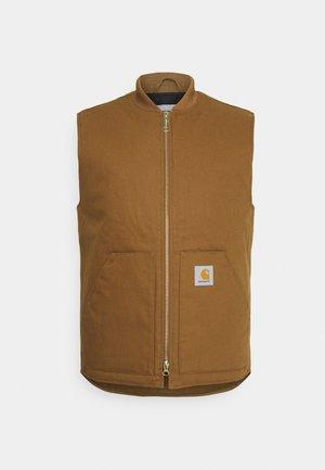 VEST DEARBORN - Waistcoat - hamilton brown rigid