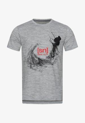 MERINO T-SHIRT M FREESTYLE TEE - Print T-shirt - grau