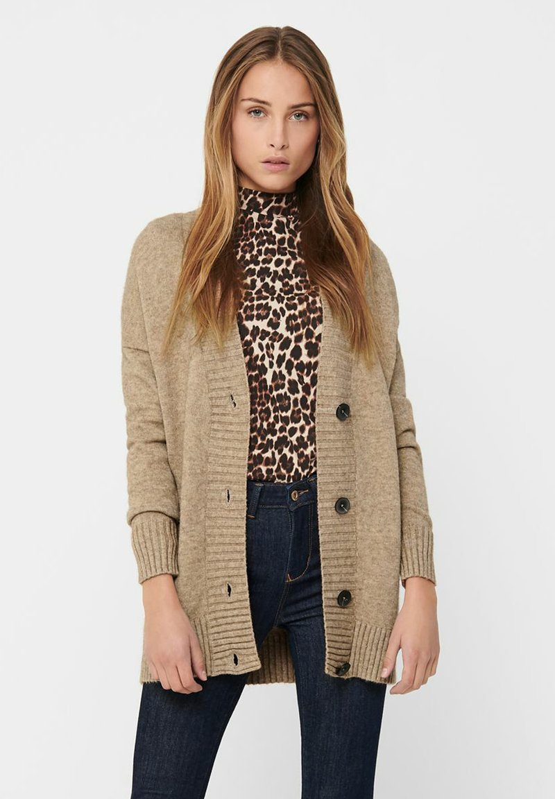 ONLY - ONLSANDY BUTTON CARDIGAN - Gilet - pumice stone