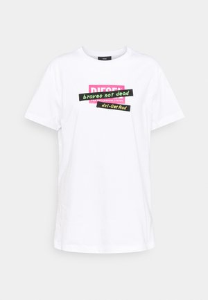 DARIA - Print T-shirt - white