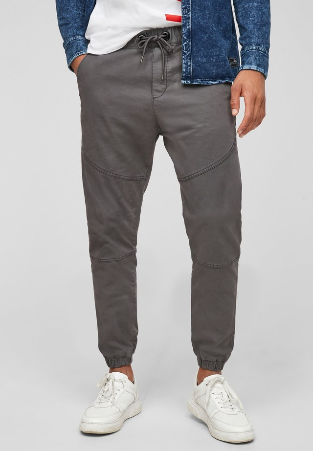 REGULAR FIT - Tracksuit bottoms - dark grey