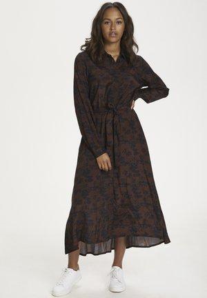 KAELINA  - Shirt dress - mustang- black leaves