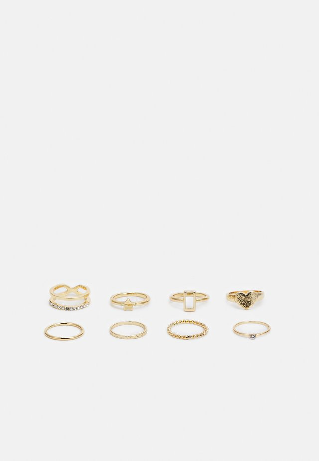 8 PACK - Ring - gold-coloured