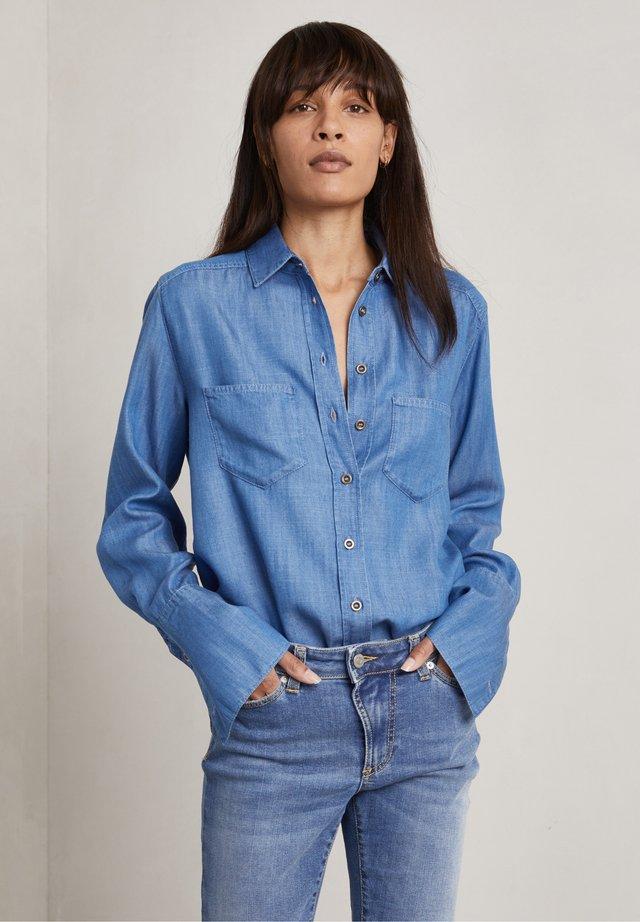 NICOLAS - Camicia - mid blue