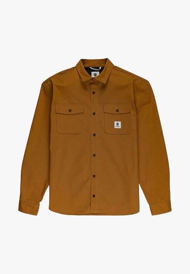 BUILDER REPREVE - Overhemd - gold brown