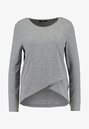 ONLSONJA MIDA WRAP - Longsleeve - medium grey