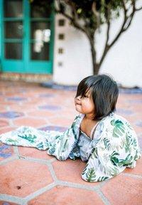 Little Unicorn - Muslin blanket - tropicalleaf - 1