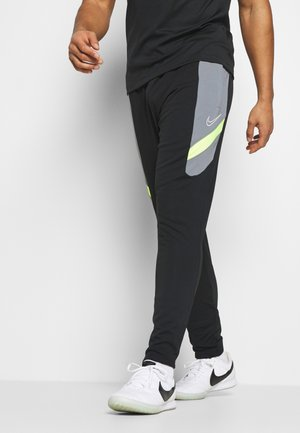 DRY ACADEMY PANT  - Tracksuit bottoms - black/dark smoke grey/volt/light smoke grey