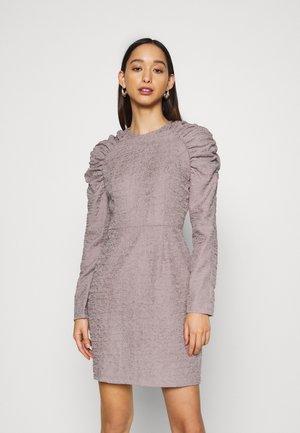 PUFFY SLEEVE DRESS - Shift dress - grey