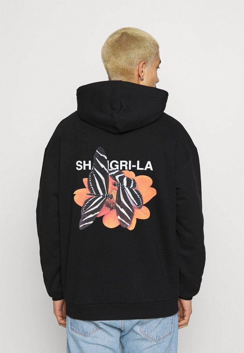 9N1M SENSE - SHANGRI LA BUTTERFLIES HOODIE UNISEX - Sweatshirt - black