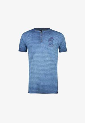 Print T-shirt - vintage blue