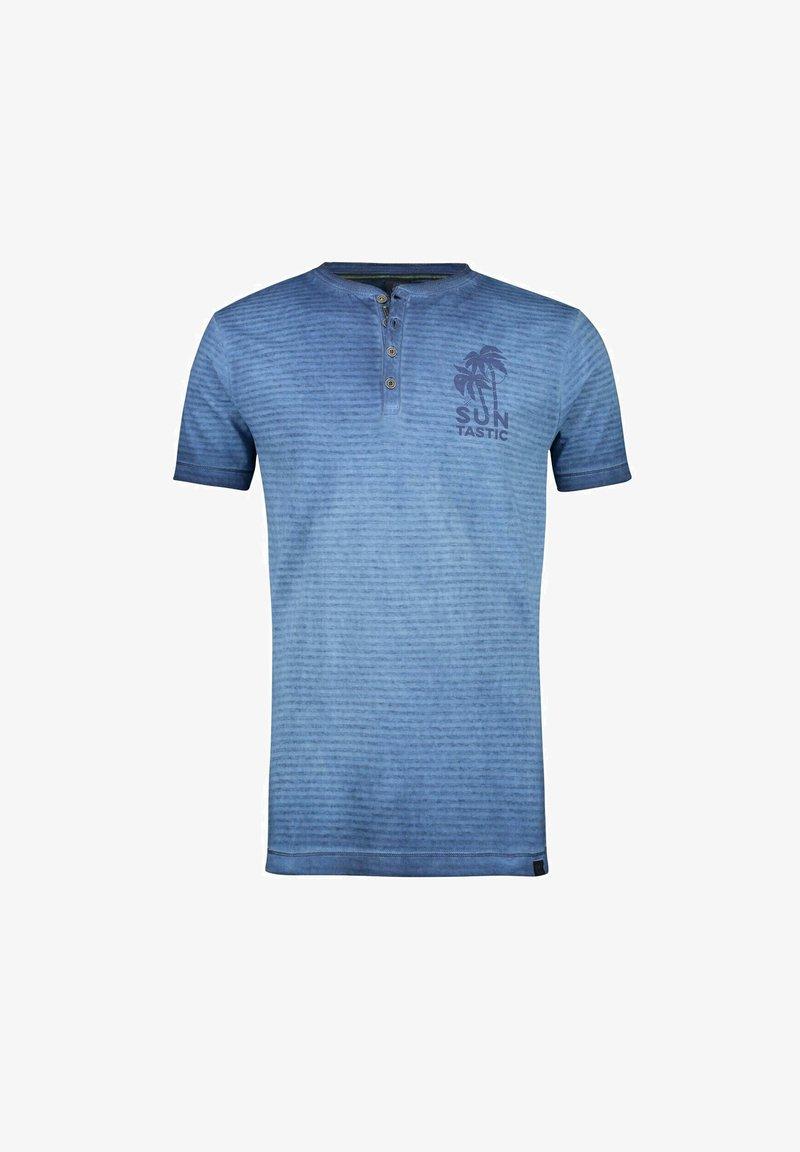 LERROS - Print T-shirt - vintage blue