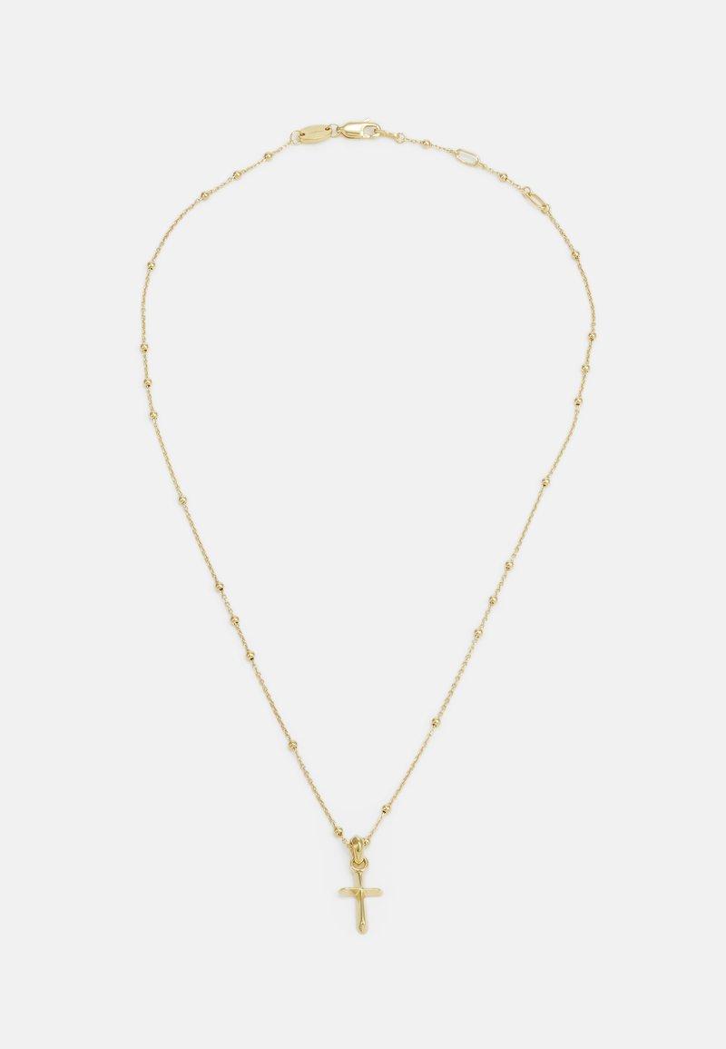 Northskull - DIMENSIONAL CROSS BEADED CHAIN NECKLACE - Naszyjnik - gold-coloured