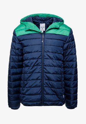 ONSGEORGE QUILTED HOOD - Light jacket - medium green/colourblock