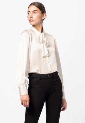 Button-down blouse - blanc cassé