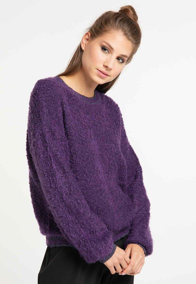 Fleecová mikina - purple
