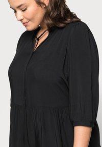 ONLY Carmakoma - CARNEWMARRAKESH 3/4 TUNIC DRESS - Day dress - black - 4