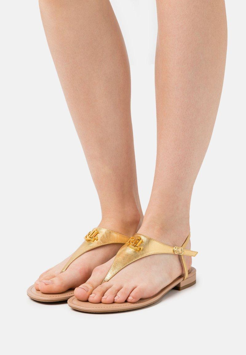 Lauren Ralph Lauren - METALLIC ELLINGTON - T-bar sandals - modern gold