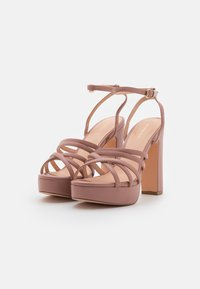 Even&Odd Wide Fit - Platform sandals - light pink - 2