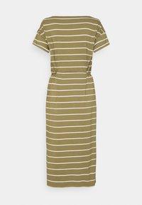 edc by Esprit - CRISPY DRESS - Jersey dress - light khaki - 1