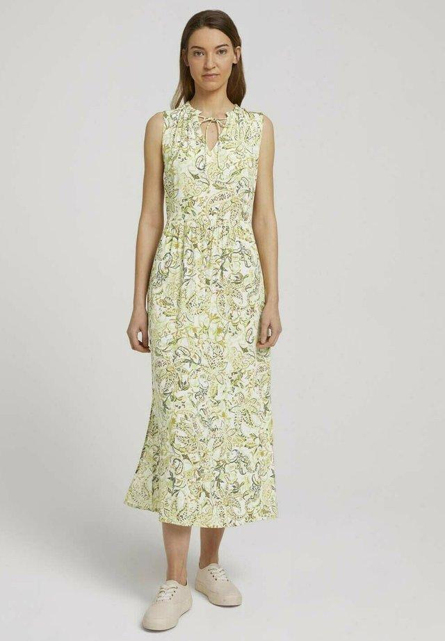 Korte jurk - green paisley design