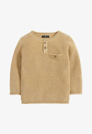 HENLEY BUTTON  - Pullover - yellow