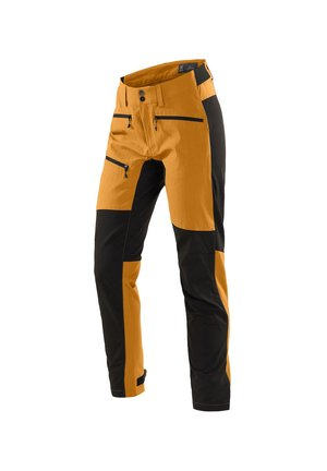 HAGLÖFS OUTDOORHOSE RUGGED FLEX PANT WOMEN - Outdoor trousers - desert yellow/true black